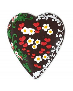 Dark Chocolate Decorated Hearts (medium)